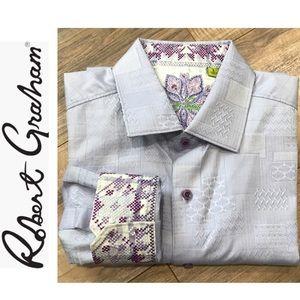 Robert Graham Lilac Long Sleeve Button Shirt Large